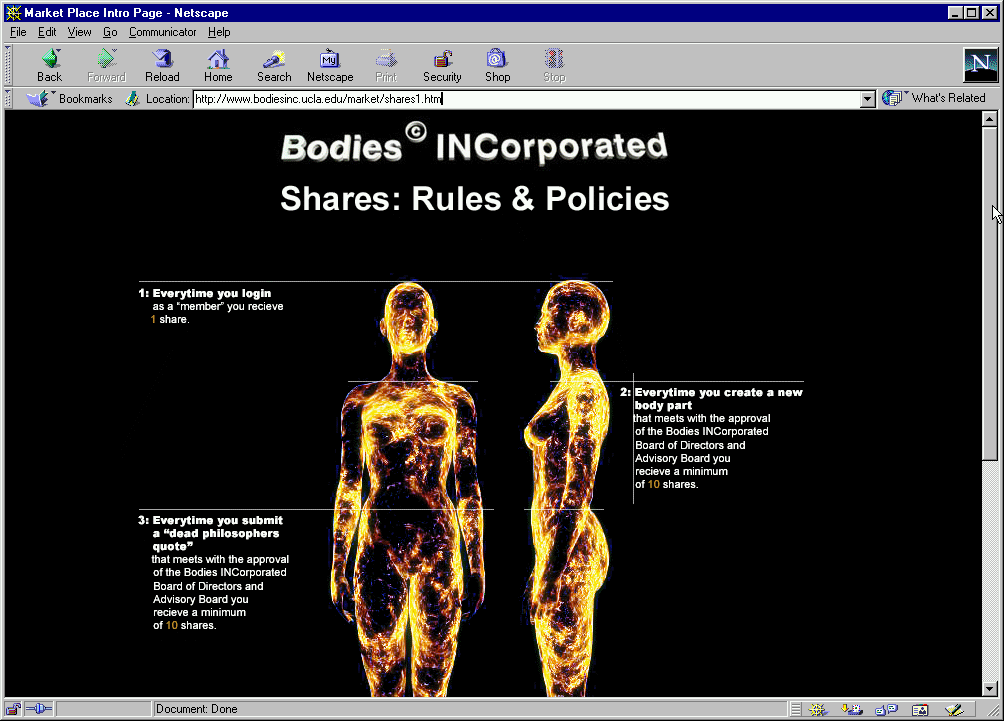 Bodies Incorporated Net Art Anthology